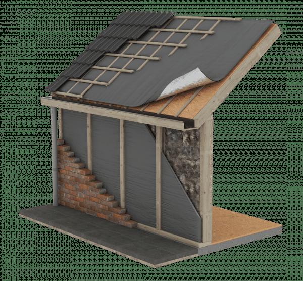 Technische tekening Alkreflex roof 1.7