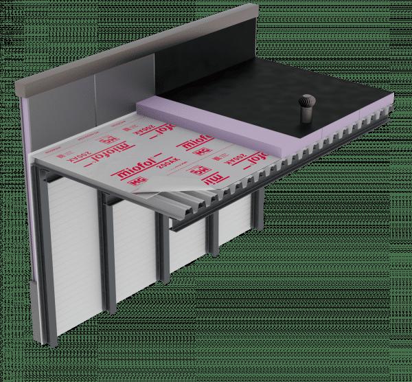 Technische tekening Miofol 200AK - Plat dak v2