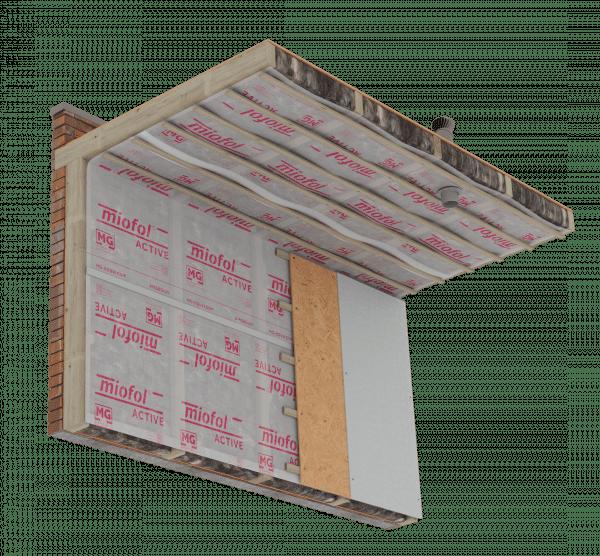 Technische tekening Miofol Active - Plat dak