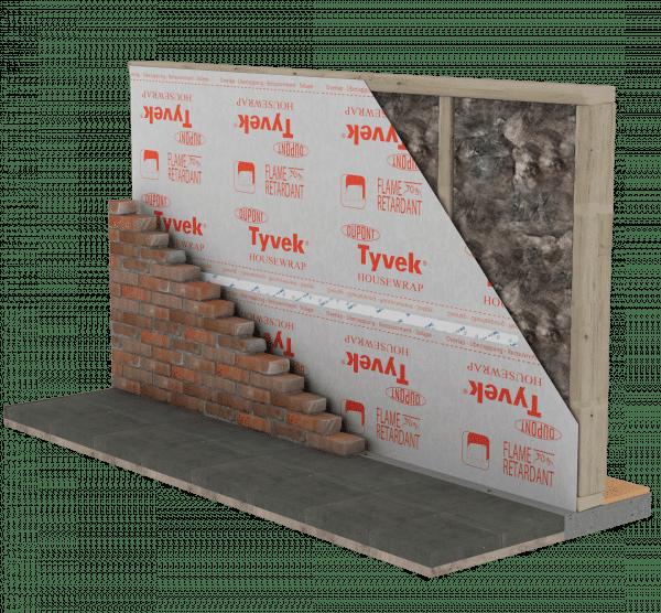 Technische tekening Firecurb Housewrap